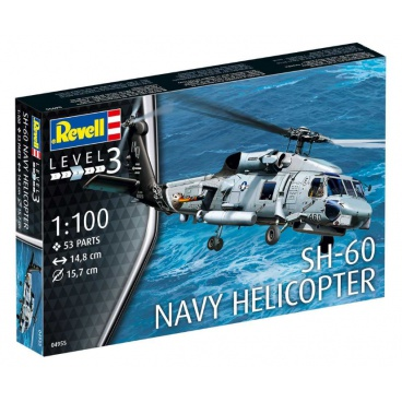 Revell Plastic ModelKit vrtulník 04955 - SH-60 Navy Helicopter (1:100)