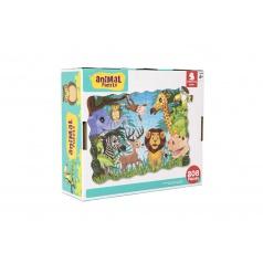 Teddies Puzzle safari ZOO 640x90cm 208ks v krabici 28x24x9cm