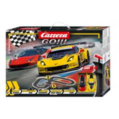 Carrera GO!!! 62490 Autodráha GT Showdown 3,6m + 2 formule v krabici 58x40x8cm