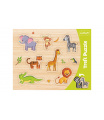 Trefl Vkládačka/Puzzle obrysové zvířátka ZOO 37x29 ve fólii