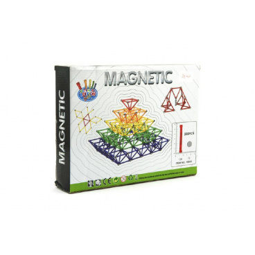 Teddies Magnetická stavebnice 200ks v krabici 30x23x6cm