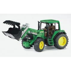 Bruder 2052 Farmer - traktor John Deere s předním nakladačem - ARCH.