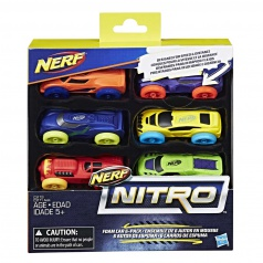 Nerf Nitro náhradní autíčka Nitro 6 ks asst