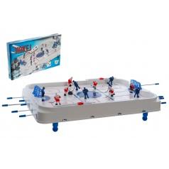 Teddies Hokej společenská hra 63x41cm plast/kov kovová táhla v krabici 73x43,5x8,5cm