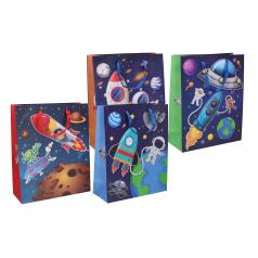 Wiky Dárková taška dětská vesmír mix barev 26x32x10,5cm