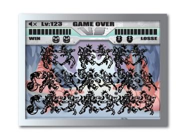 LCD hra zápas