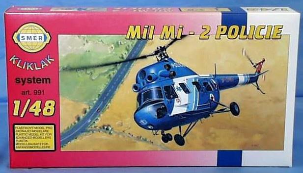 Směr modely plastové Vrtulník Mi 2 - Policie   1:48
