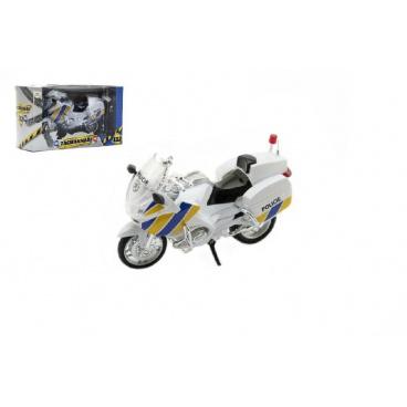 Teddies Motorka Záchranáři 112 policie plast 12cm v krabičce český design