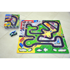 wiky Pěnové puzzle Závodní dráha 32x32cm 9ks v sáčku