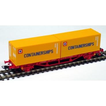 PIKO modelová železnice Kontejnerový vagon 2x20´ Containerships