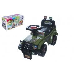 Teddies Odrážedlo auto Cross country vojenská khaki zelená 53x48x26cm v krabici od 12 do 35 měsíců