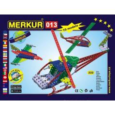 MERKUR - Stavebnice Merkur 013 Vrtulník, 222 dílů, 10 modelů