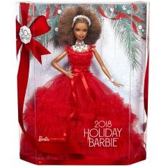 Mattel Barbie HOLIDAY DOLL AFRO ÚČES FRN70