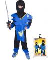 Dětský karnevalový kostým Ninja modro-žlutý velikost M