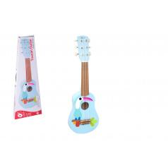 Teddies Gitara s trsátka drevo 52cm v krabici 55x19x7cm