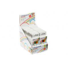 Teddies Pastelky krátke 6ks v krabičke 4,5x11cm