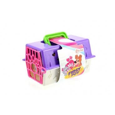 Teddies Přenosný box + zvířátko plast 16,5x12x9,5cm asst 3 druhy v sáčku