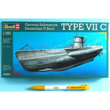 Revell Plastic ModelKit ponorka 05093 - U-Boot Typ VIIC (1:350)