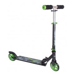 Authentic Sports Koloběžka skládací (černá/zelená), průměr kol 125mm