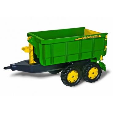 ROLLYTOYS Vlečka za traktor John Deere vyklápěcí zelená