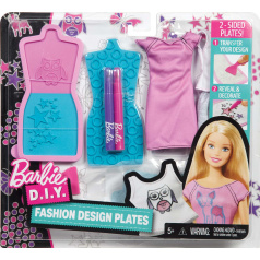 Mattel Barbie D.I.Y. MÓDNÍ NÁVRHÁŘSKÉ ŠABLONY