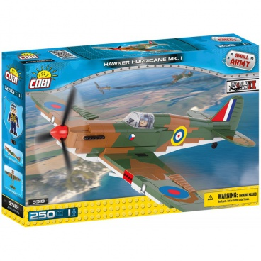COBI Small Army stavebnice letadlo WW II Hawker Hurricane Mk I, 250 k, 1 f