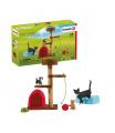 Schleich 42501 Škrábací kočičí strom s koťaty