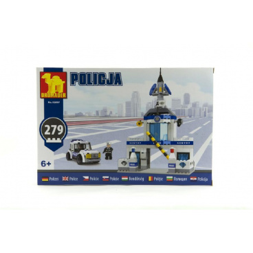 Dromader 92897 Policie Stanice+Auto 279ks v krabici 32x22x5cm