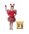 Rappa Dětský karnevalový kostým beruška velikost 104 -150 cm