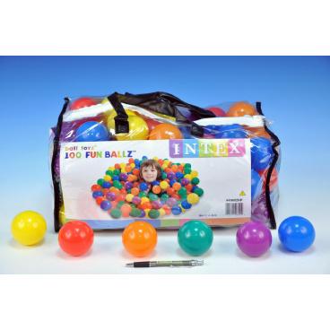 Teddies Míček/Míčky do hracích koutů 6,5cm barevný 100ks v plastové tašce 2+