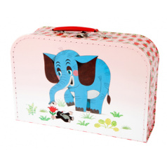 Kazeto Kufrík/Kufor Krtko a slon šitý 30x21x9,5cm