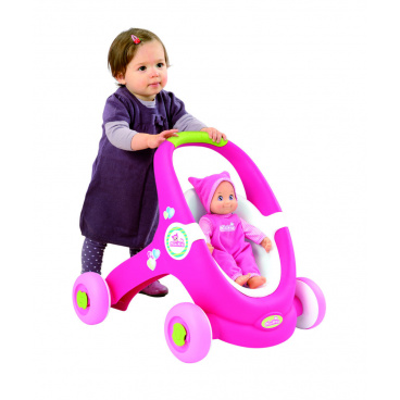 SMOBY dětské chodítko Minikiss Baby Walker 2v1