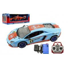 Teddies Auto RC sport racing plast 40cm na baterie + dobíjecí pack 2 barvy v krabici 55x19x24cm