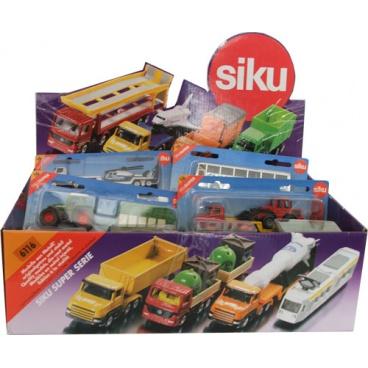 Siku Display 25ks autíček řady 16, všechna auta mají stejný EAN, min.odběr dspl = 25ks !!!