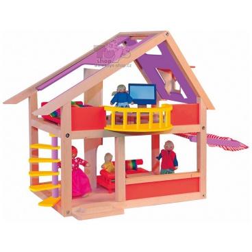 WOODY Moderní domeček s markýzou