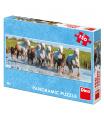Dino dětské puzle  Camargští koně 150D panoramicuzzle