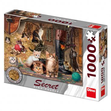 Dino Ostatní Dino puzle Kočičky 1000D secret collection