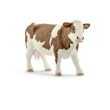 Schleich 13801 zvířátko - kráva simmentálská