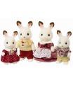 """Sylvanian Families 4150 Rodina """"chocolate"""" králiků"""