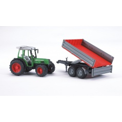 bruder Farmer - traktor Fendt 209S s přívěsem - ARCH.