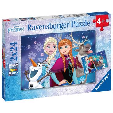 Ravensburger Frozen Ravensburger dětské puzzle Disney Frozen Ledové království 2x24 dílků