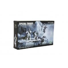 Teddies Stavebnice vojáci plast Arktická jednotka 4ks s doplňky v krabici 25x15x5cm