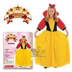 dětský karnevalový kostýml - Sněhurka vel. 120-130 cm