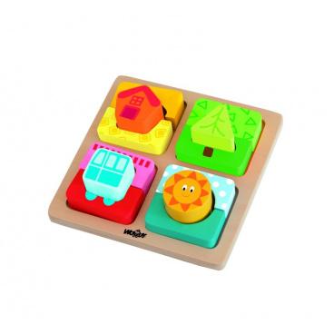 """Woody Destička s puzzle-tvary """"Slunce domova"""""""