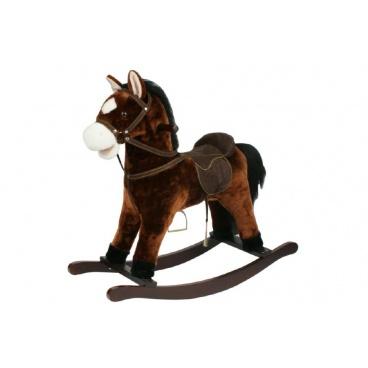 Teddies Kůň houpací hnědý plyš nosnost 50kg v krabici