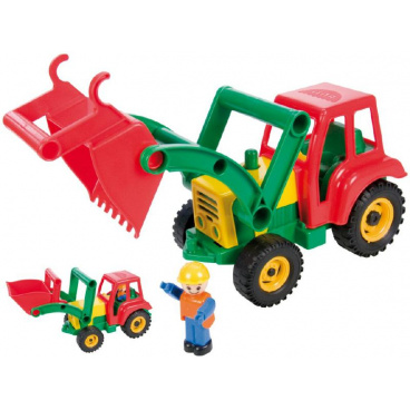 LENA Auto traktor/nakladač aktivní se lžící plast 35cm 24m+