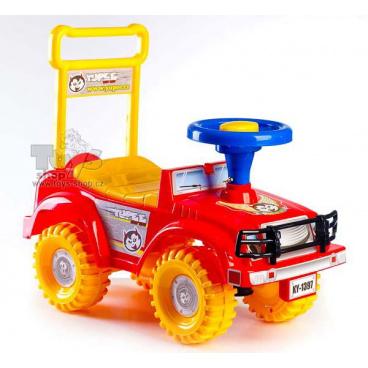 Dětské odrážedlo auto Jeep Yupee červené
