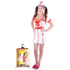 Rappa Karnevalový kostým pro dospělé slečna zdravotnice (M)