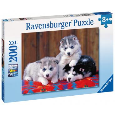 Ravensburger puzzle Štěňata Husky 200 XXL dílků