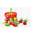 Teddies Nákupní košík plast + sada nádobí s vařičem v sáčku